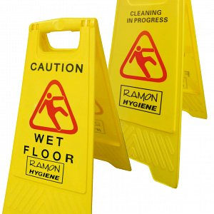 Dual Warning 'A' Frame Caution/Wet Floor